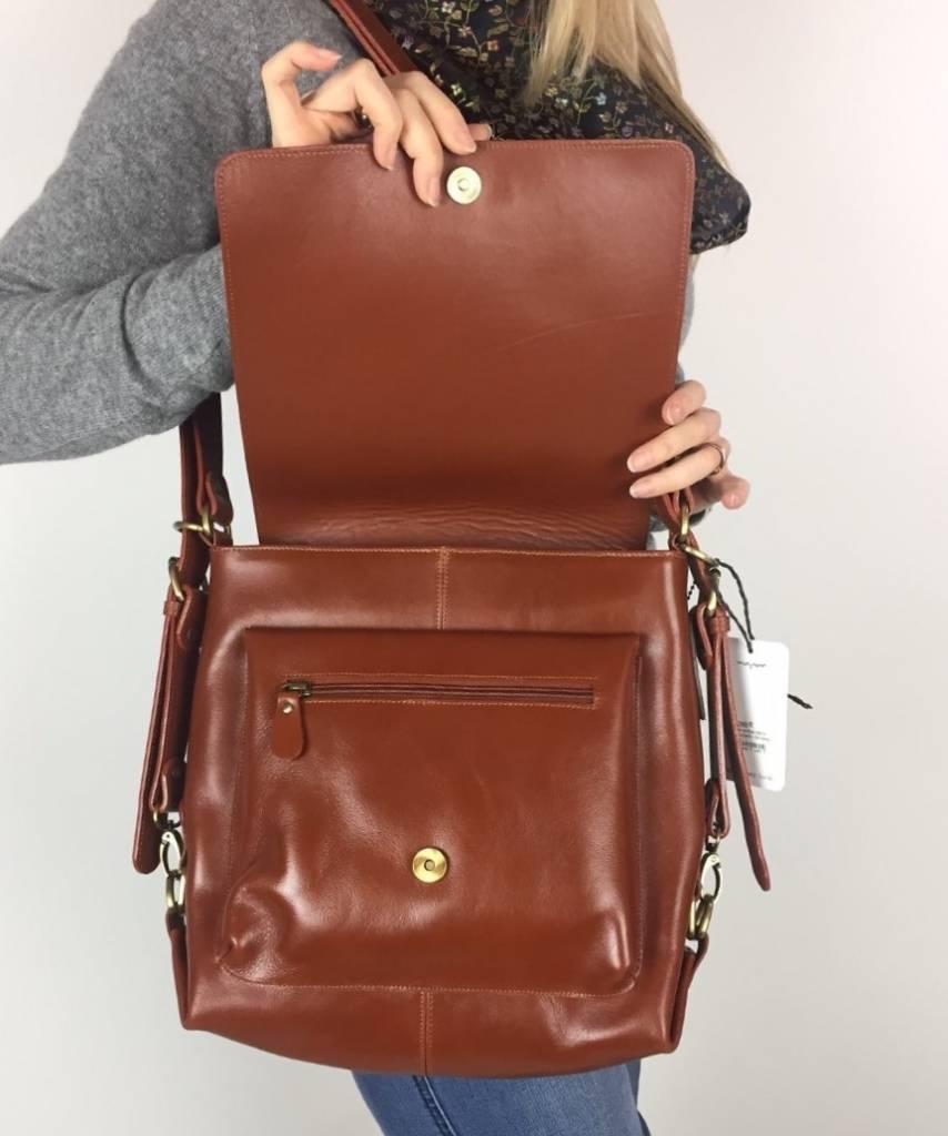Fredd & Basha Convertible Metro Backpack - Whiskey