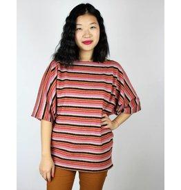 Sarah Bibb Sarah Sweater - Pink Stripe