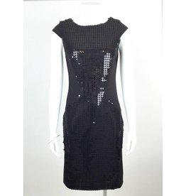 Sequin Panel Dress - Black