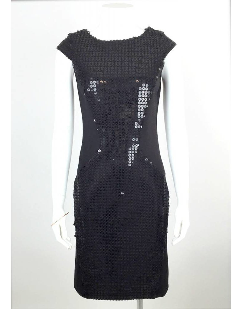 Sequin Panel Dress- Black
