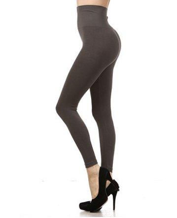 M Rena Tummy Tuck Leggings by M Rena - Dark Grey