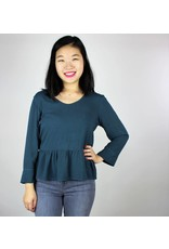 Peplum Blouse - Forest Teal