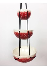 Tiered Hanging Bowls - Red Slash