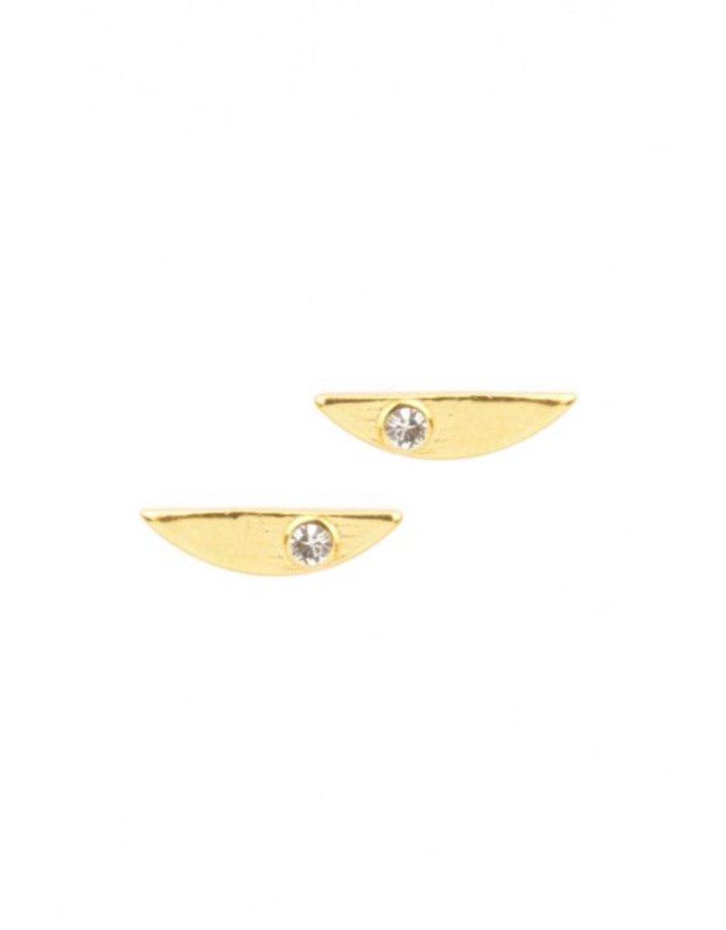 Katie Dean Jewelry Half Moon Studs