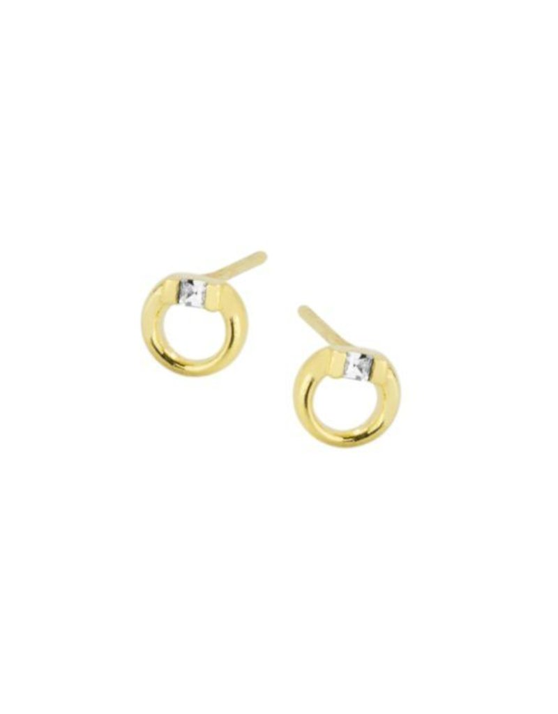 Katie Dean Jewelry Circle Gem Studs