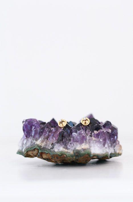 Katie Dean Jewelry Circle Gem Studs