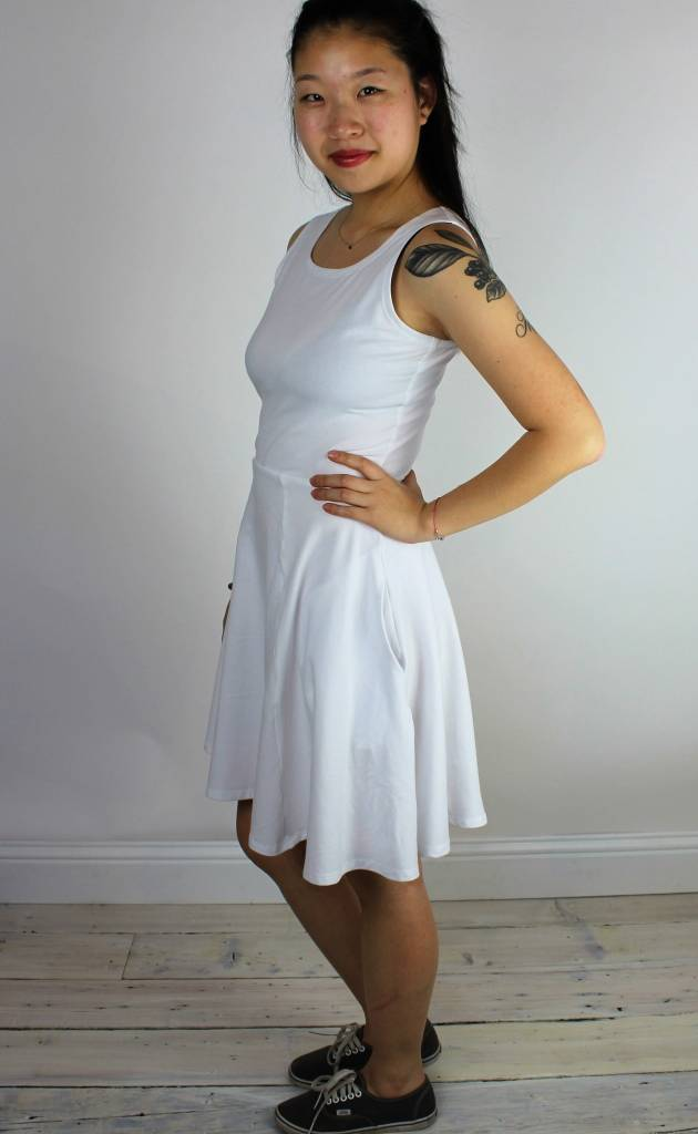 Sarah Bibb Lucy Dress - White Cotton