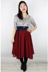 Sarah Bibb Anca Chiffon Skirt - Rojo