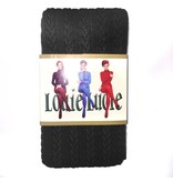Cable Knit Tights - Black