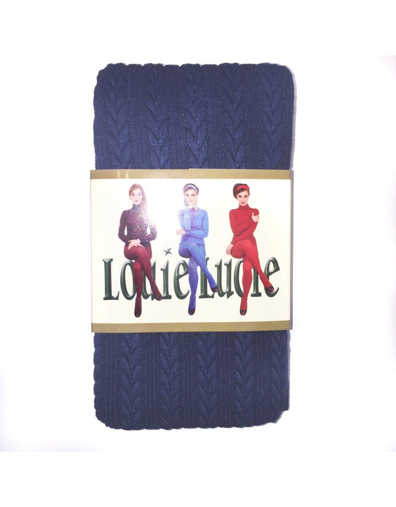 Cable Knit Tights - Ink