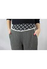 Paula Relaxed Pant - Black Tribal