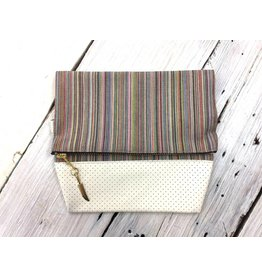 Canvas Snap Bag - Rainbow Stripe