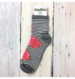 Peony & Moss Cotton Crew Socks - Bloom