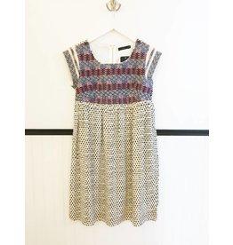 Ellie Embroidred Dress - B&W Spot