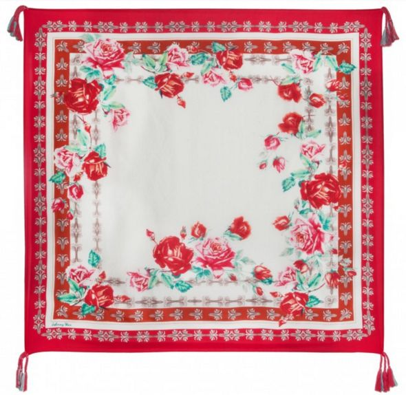 Johnny Was Silk Tassel Scarf - Secret Garden