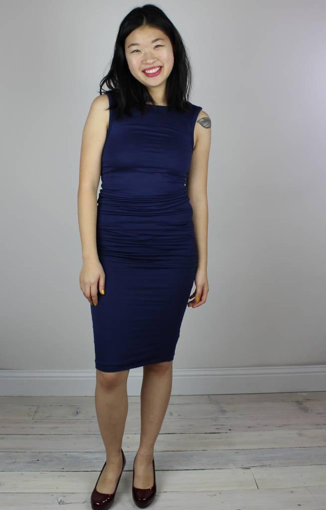 Bishop + Young Mia Bodycon Dress - Deep Blue