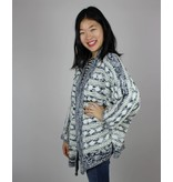 Bishop + Young Marble Weaved Cardi - Navy