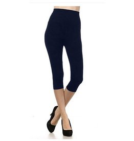 M Rena Tummy Tuck Cropped Leggings by M Rena - Ink