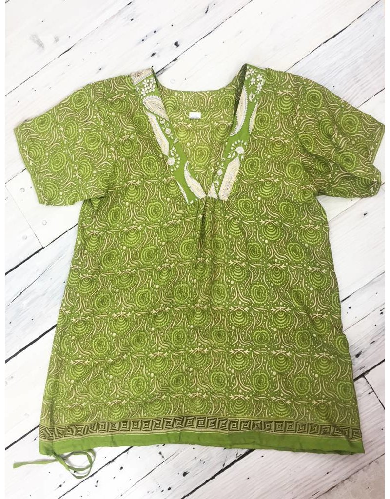 St.U Sari V-Neck Tunic - Green