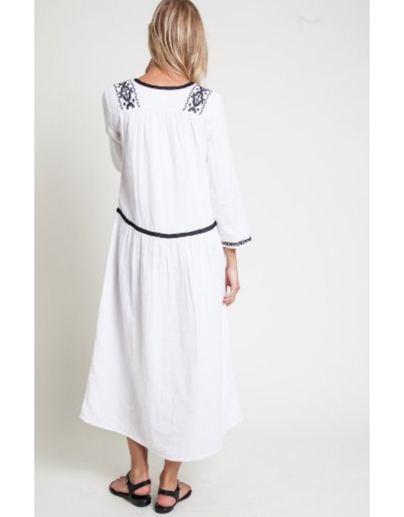 dra Lakewood Dress - White & Black