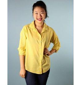 Velvet Minnie Button Down Shirt - Sunflower