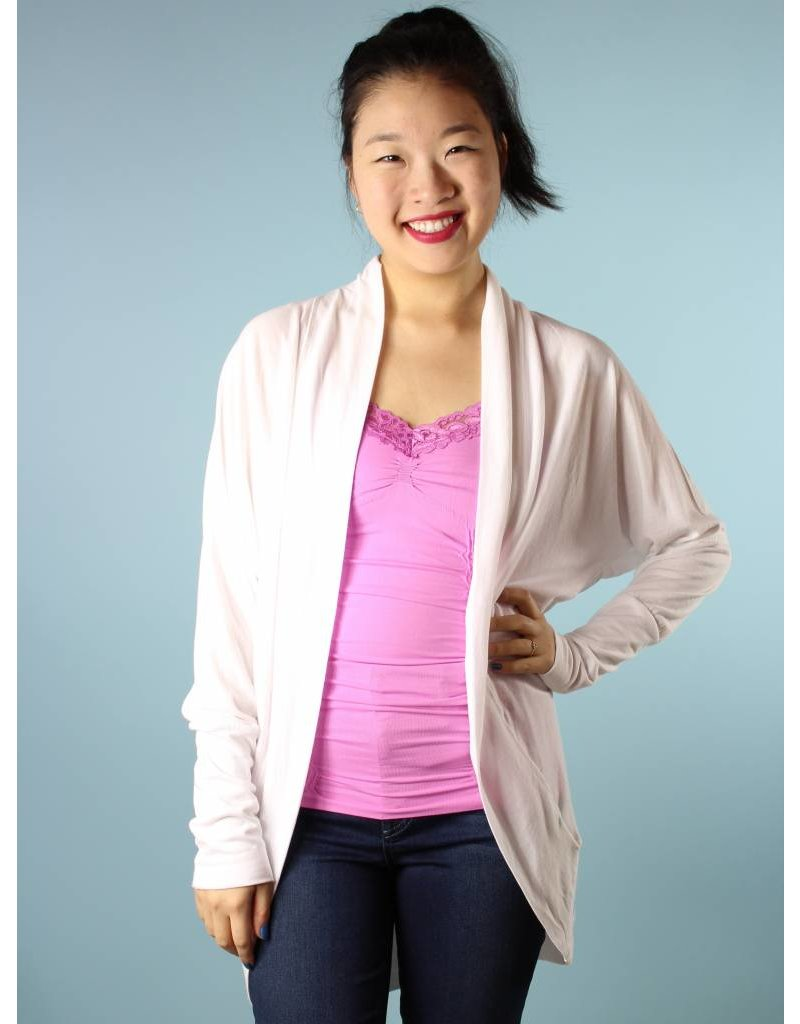 Jersey Cocoon Cardi - White