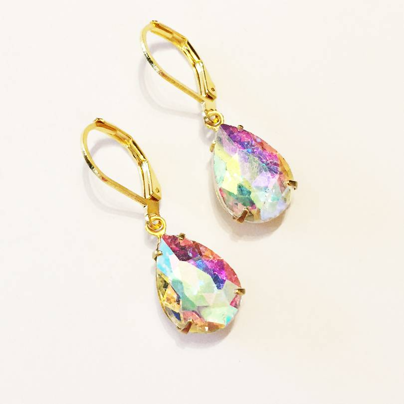 Nicole Weldon Glass Teardrop Earrings