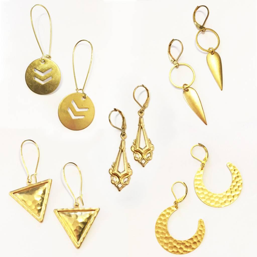 Nicole Weldon Brass Earrings