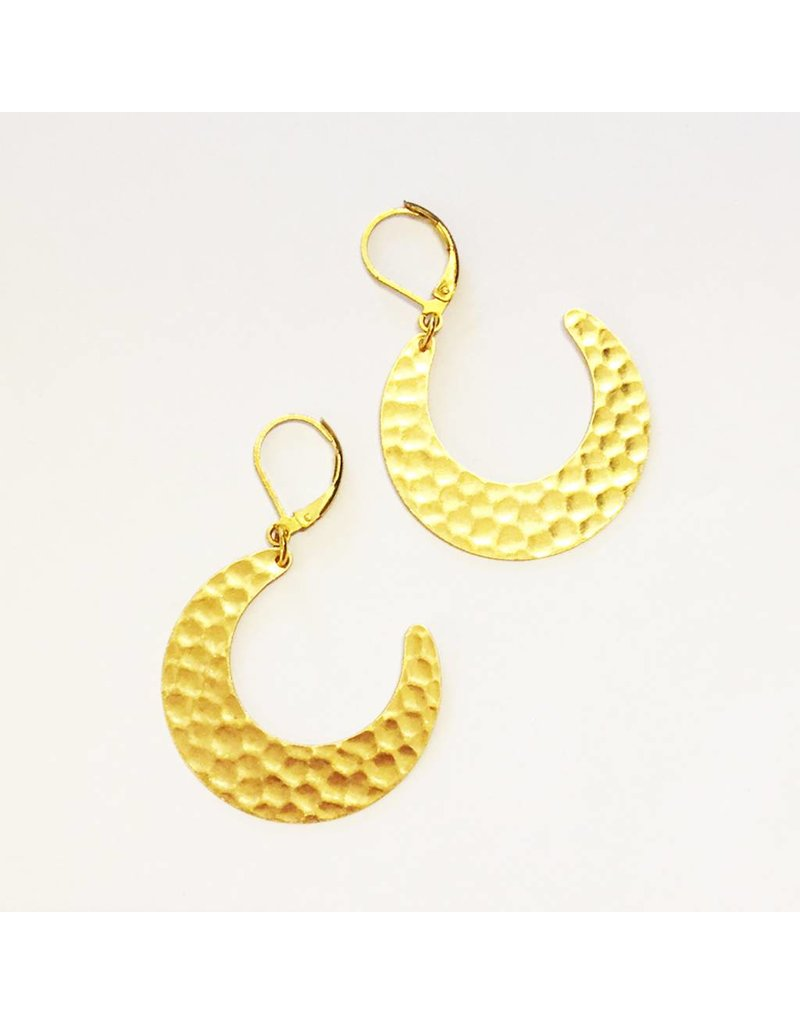 Nicole Weldon Brass Earrings