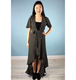 Flair Macie Wrap Dress - Dot