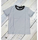 Soft Mini Stripe Crew Tee - B&W