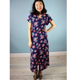 Sarah Bibb Tez Maxi Dress - Blue Floral