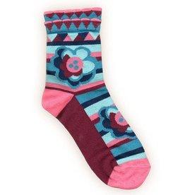 Peony & Moss Cotton Socks - Peony