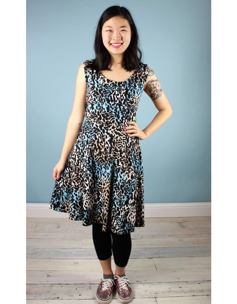Alyson Clair CON Unicorn Dress - Teal Leopard