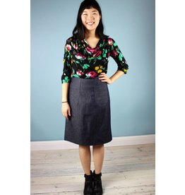 Muriel Denim Pencil Skirt - Frances