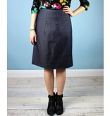 Muriel Denim Pencil Skirt - Frances