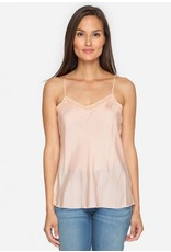 4 Love & Liberty Silk Lace Trimmed Camisole - Blush