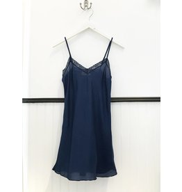 4 Love & Liberty Silk Slip - Liberty Blue