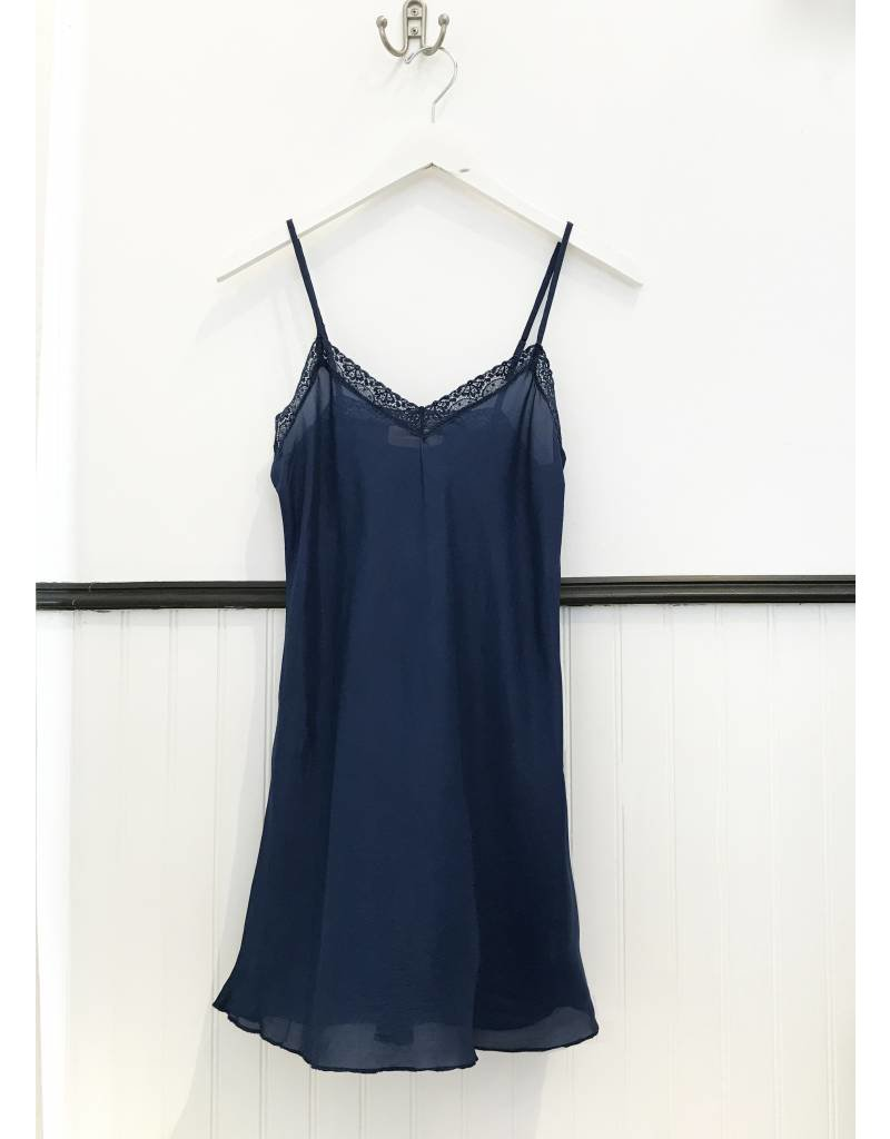 4 Love & Liberty Silk Slip - Liberty Blue