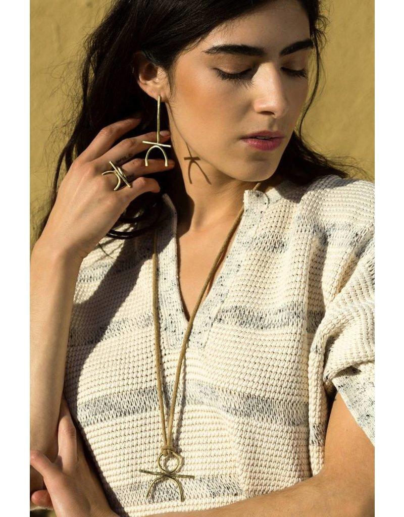 West Native Retrograde Earrings