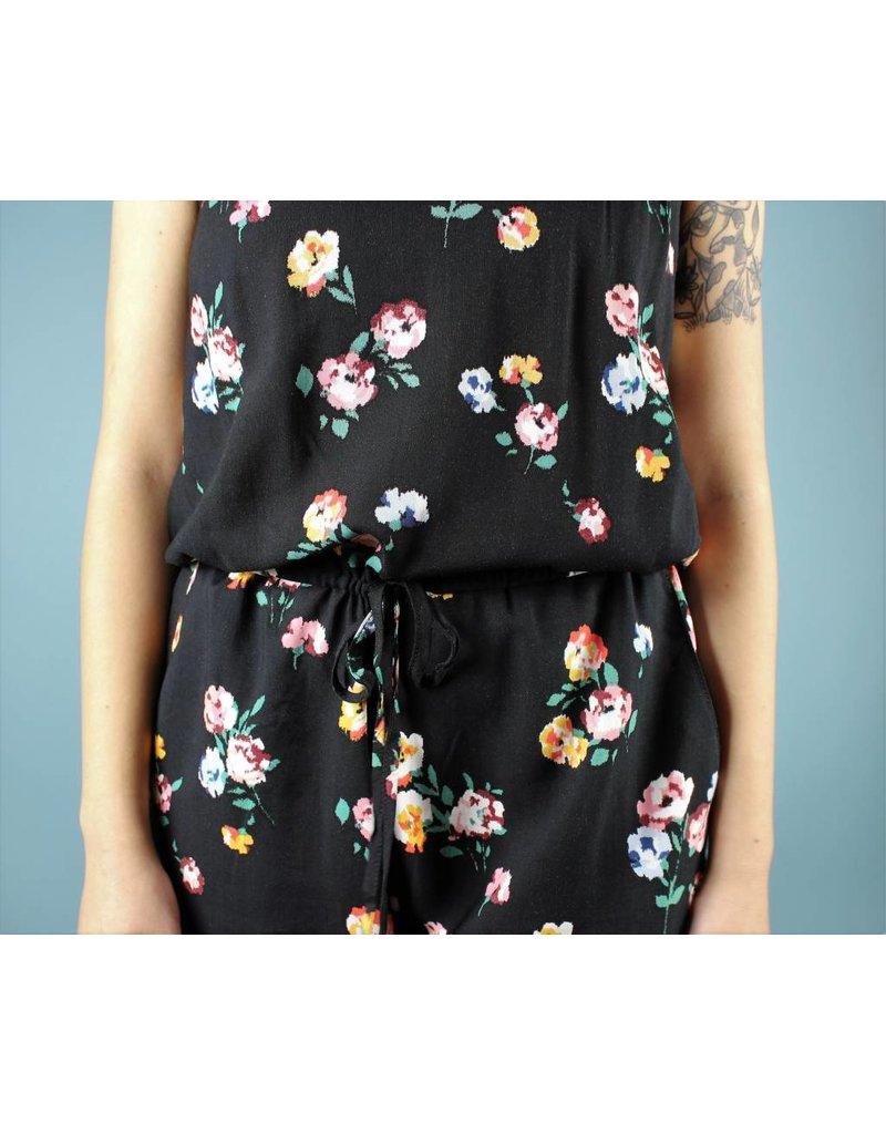 Cameo Jumpsuit - Black Floral