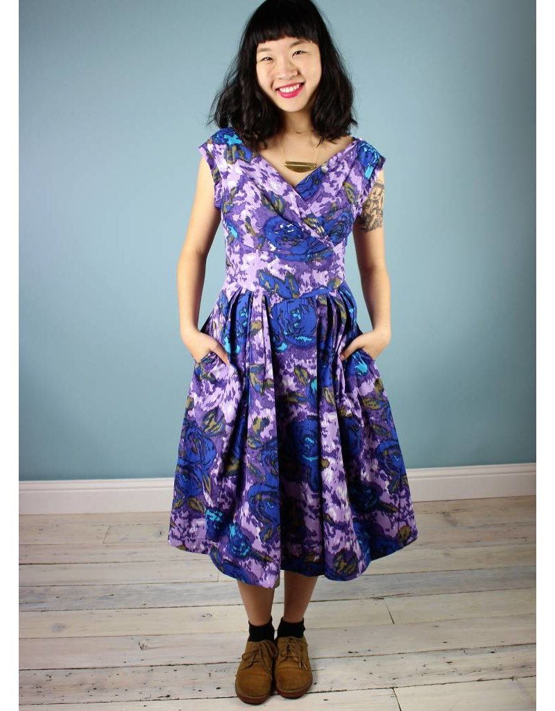 Emily & Fin Florence Dress - Purple Floral - FOLLY