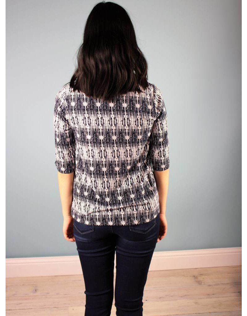 Jane Knit Top - Mixed Navy