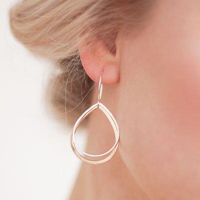 Favor Drop Shadow Earrings - Mixed Metals