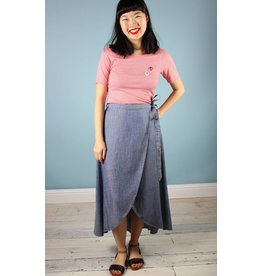 Level 99 Kody Wrap Skirt - Jetty