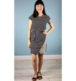 Shari Knit Tunic Dress - Black and White