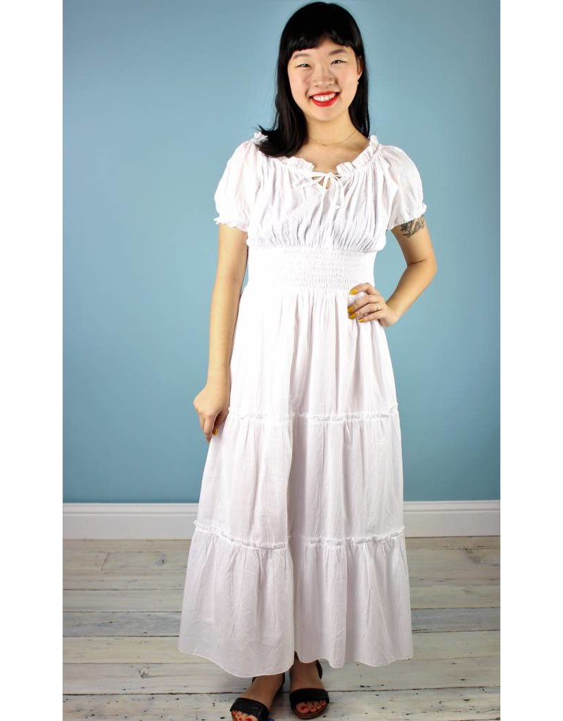 St.U Genevieve Eyelet Dress - White