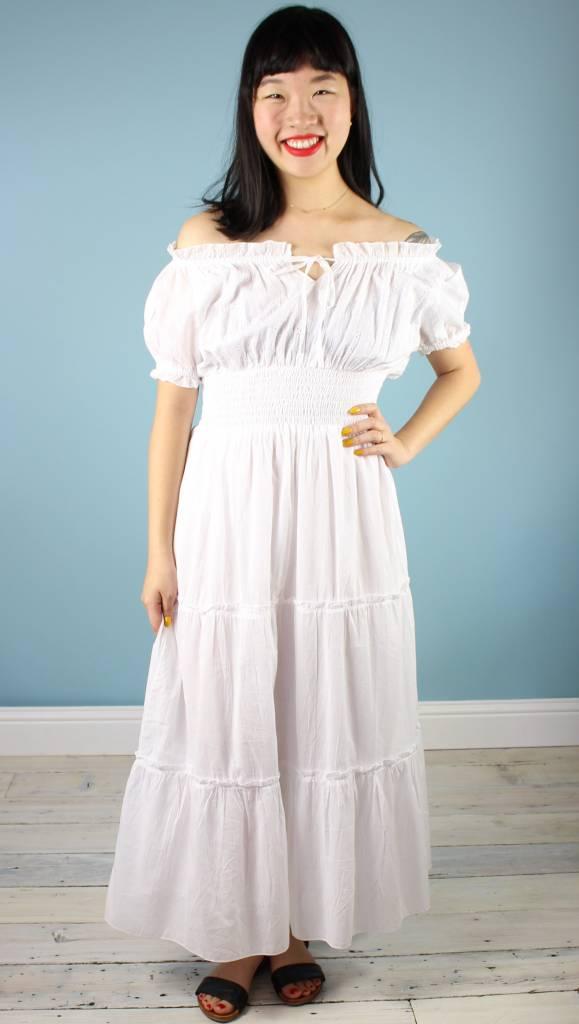 St.U Genevieve Eyelet Dress - White