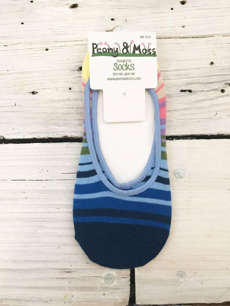 Peony & Moss No Show Socks - Multi