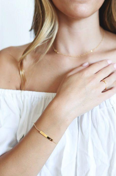 Katie Dean Jewelry Bar with Gem Bracelet